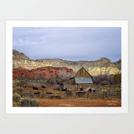 Historic Working Cattle Ranch In Utah , John D Barrett Photography Art Print