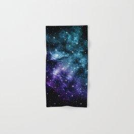 Teal Purple Galaxy Nebula Dream #1 #decor #art #society6 Hand & Bath Towel