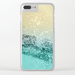 Lemon Twist Beach Glitter #2 #shiny #decor #art #society6 Clear iPhone Case