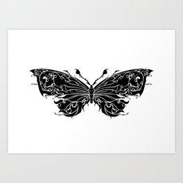 Buterfly Pattern Decoration Art Print