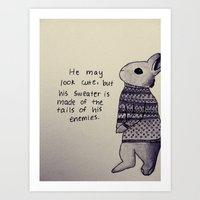 sweater Art Prints featuring Sweater by Jennifer Chittenden