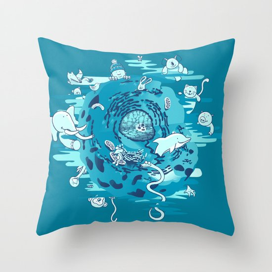 The Cell Throw Pillow