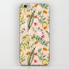 Pattern leaf and flowers II iPhone Skin