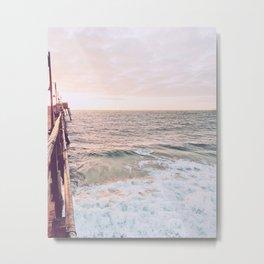 Pier to Sea Metal Print