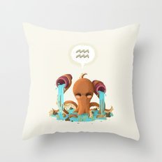 Aquarius Throw Pillow