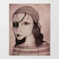 pirate Canvas Prints featuring Pirate by CokecinL