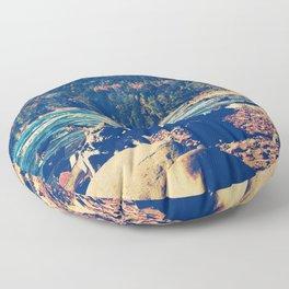 Rocky Shores of Lake Superior Floor Pillow