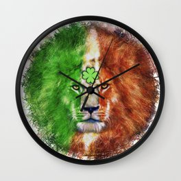 St. Patrick's Day Irish Lion Wall Clock