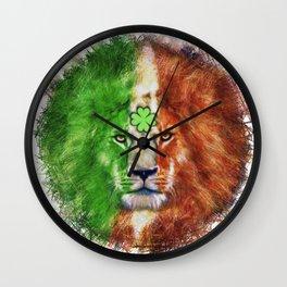 St. Patrick's Day Irish Lion Wall Clock