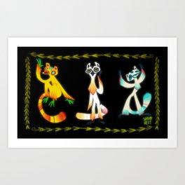 A Bunch of Lemurs Art Print