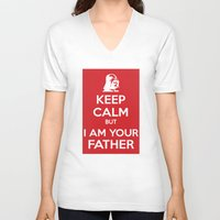 keep calm V-neck T-shirts featuring Keep Calm by ubertwigg