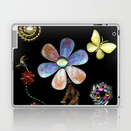 Happy Day in the Garden, Jewelry Scanography Laptop & iPad Skin