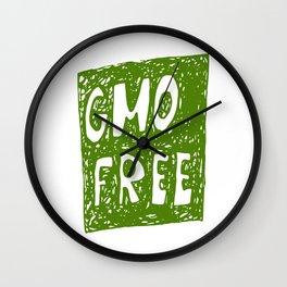 GMO FREE Wall Clock