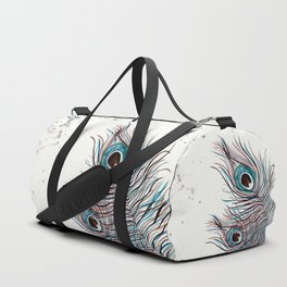 BOHO PEACOCK FEATHER Duffle Bag