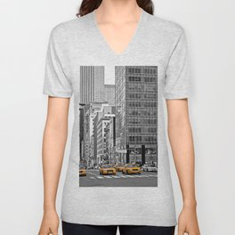 NYC - Yellow Cabs - Police Car Unisex V-Neck