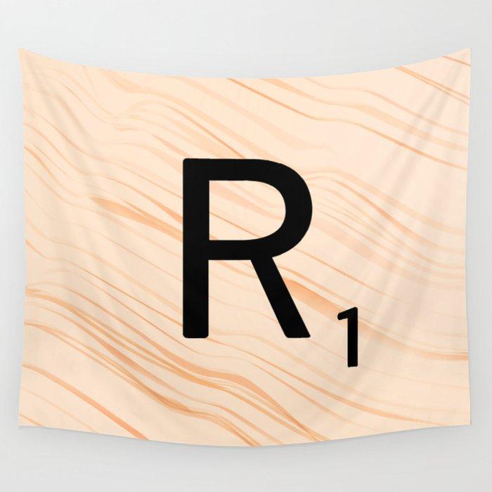 Scrabble Letter R - Large Scrabble Tiles Wall Tapestry by ekphotoart ...