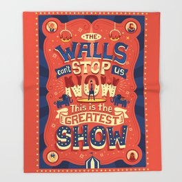 The Greatest Show Throw Blanket