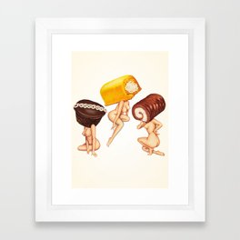 Hostess Cake Girls Framed Art Print
