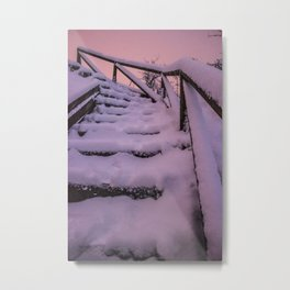 Snow covered Stairway to Heaven Metal Print