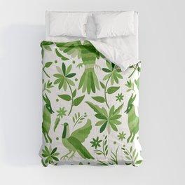 Mexican Otomí Design in Green Comforters