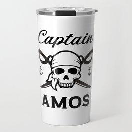 Personalized Name Gift Captain Amos Travel Mug