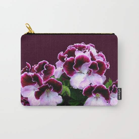 Pink, Purple, Flower Power Carry-All Pouch