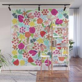 Wildflower Pattern Wall Mural