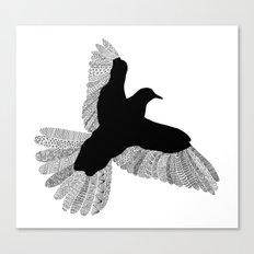 Bird (On White) Canvas Print