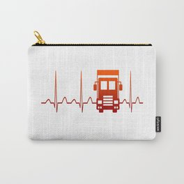 TRUCK DRIVER HEARTBEAT Carry-All Pouch