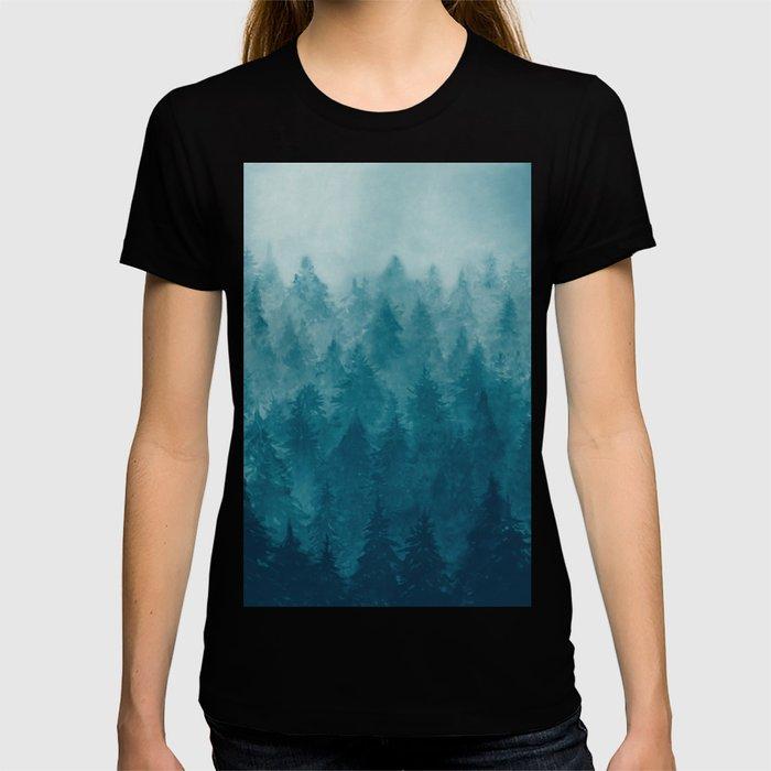 Misty Pine Forest T-shirt