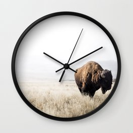 Bison stance Wall Clock