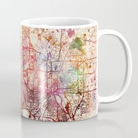minneapolis Mugs featuring Minneapolis by MapMapMaps.Watercolors