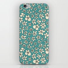 garland flowers blue iPhone & iPod Skin