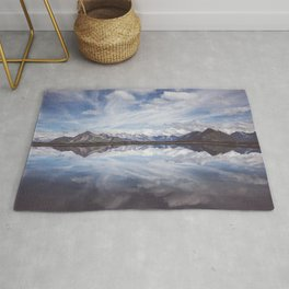 Mountain Lake Reflection - Landscape and Nature Photography Rug