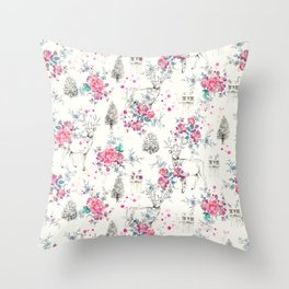 Deer pattern Throw Pillow