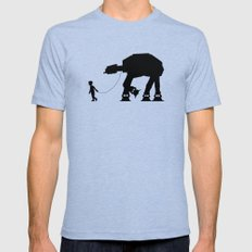 A Boy and His AT-AT Tri-Blue Mens Fitted Tee LARGE