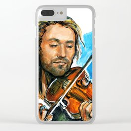 violinist plays music #3 Clear iPhone Case