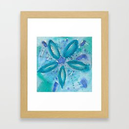 Mermaid's Coin Watercolour abstract Framed Art Print