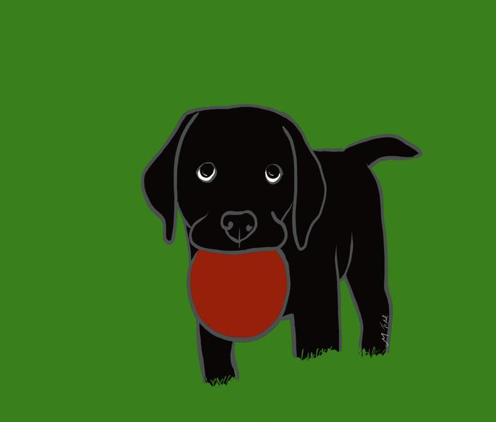 Black Lab Puppy Metal Travel Mug