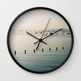 boats against the current Wall Clock