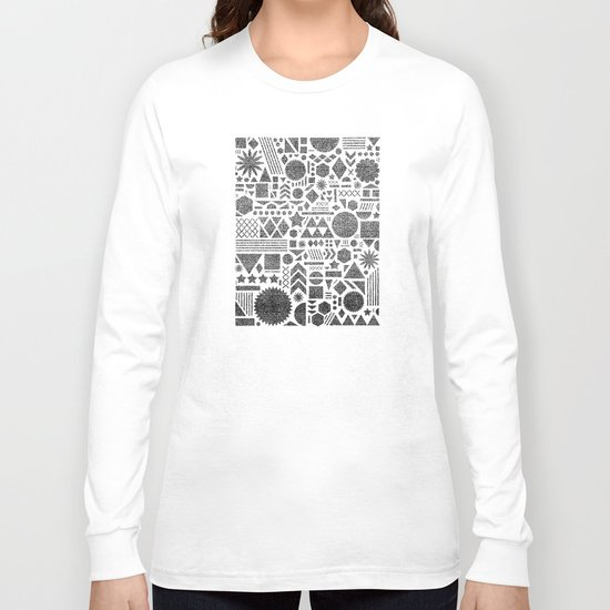 Modern Elements with Black. Long Sleeve T-shirt