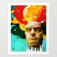 beethoven Art Prints featuring Beethoven by Ed Pires