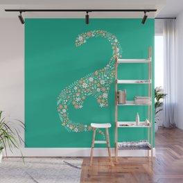 Floral Brontosaurus Wall Mural