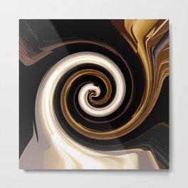 Babylonian Swirl Metal Print