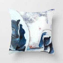 Bears - Don't be afraid, I'll show you the way... by LiliFlore Throw Pillow