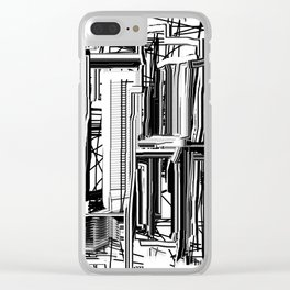 Abstract City #2 Clear iPhone Case