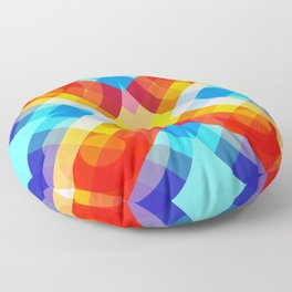 Retro Rocket 20 Floor Pillow