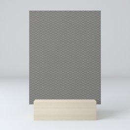Pantone Pewter Gray Scallop, Wave Pattern Mini Art Print