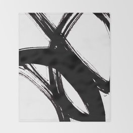 Abstract Wall art, Abstract Print, Black White Abstract Print, Black White Art, Minimalist Print, Ab Throw Blanket