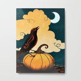 Halloween Is In The Air Metal Print